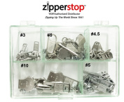 Zipper Repair Kit Solution Metal YKK® Assorted Aluminium Slider Easy Container Storage Sets of #3, #4.5, #5, and #10 Include #3, #4.5, #5 and #10 Top - Bottom Stops Both (Made in USA) 23 sets