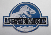 Jurassic World Logo Iron-on/Sew-on Embroidered PATCH