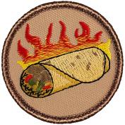Flaming Burrito Patrol Patch - 5.1cm Round.