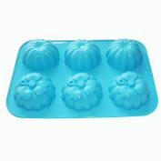 X-Haibei 3-D Pumpkin Cake Pan Chocolate Ice Cream Soap Silicone Mould Fall Halloween Decor