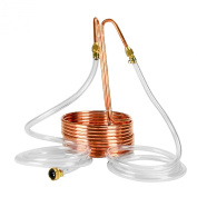 Copperhead Immersion Wort Chiller for Homebrew Beer Brewing - Copper Coil and Vinyl Tubing with Garden Hose Connexion