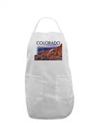 TooLoud Colorado Mtn Sunset Cutout Adult Apron