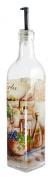 Grant Howard Herbs and Oil Provence Theme Oil & Vinegar Glass Cruet, 470ml, Multicoloured