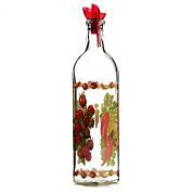 Grant Howard Country Veggies Oil & Vinegar Glass Cruet with Ergo Pourer, 470ml, Multicoloured