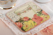 Square handmade MDF coaster for cup decoupage wooden coaster kitchen designs