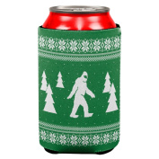 Sasquatch Ugly Christmas Sweater All Over Can Cooler