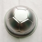 Large Novelty Sports Themed 3D Soccer Ball metal Pastry baking pan mould mould, diametre 23cm, height 8cm