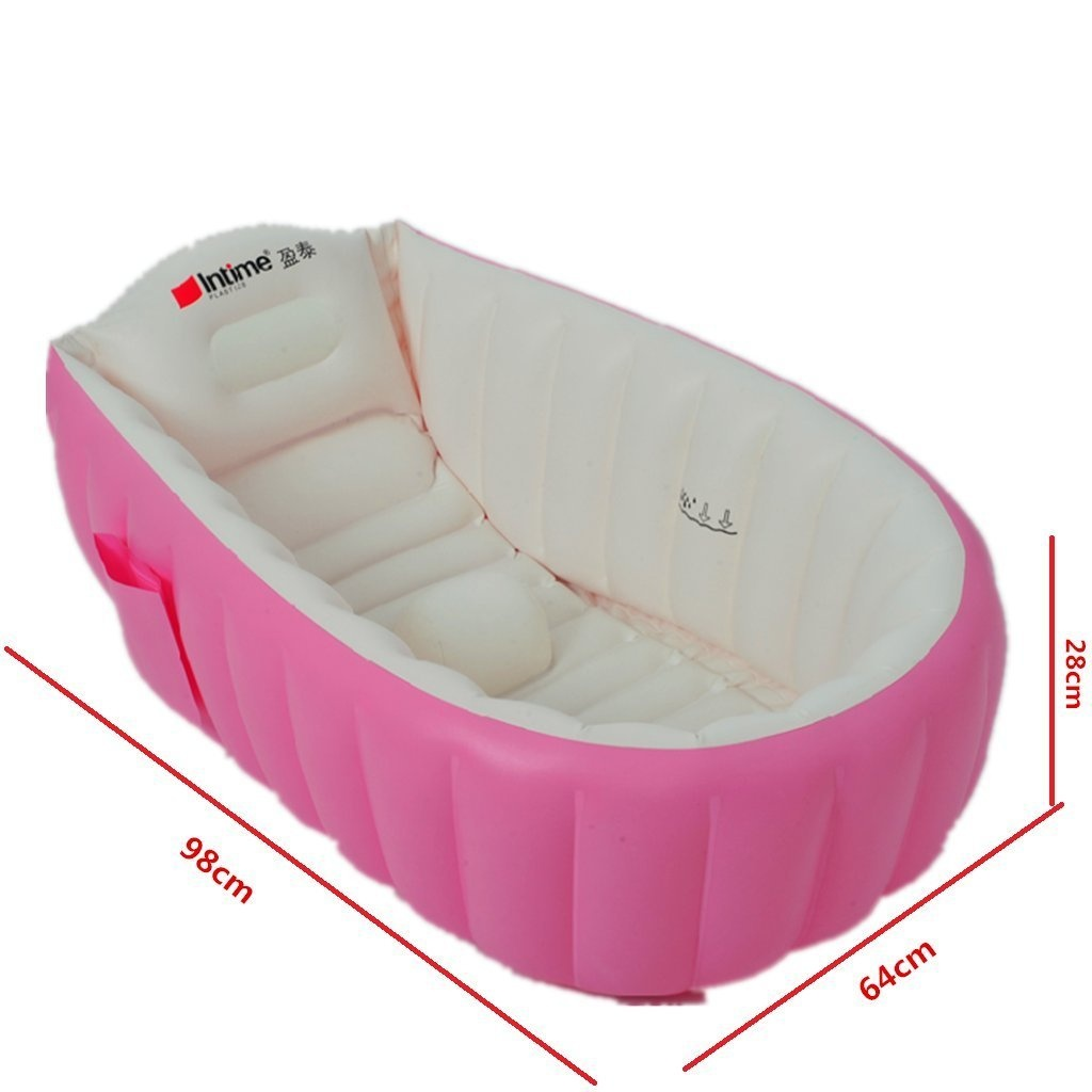 Intime Inflatable Baby Bath Tub, Baby Children Shower Tub (For 0-3 ...