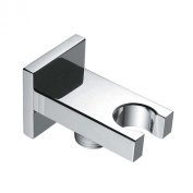 S R SUNRISE Square SOLID BRASS Minimalist Fixed Mounted Shower Head Holder Bathroom Wall Connector Bracket Chrome Finish ARE3027