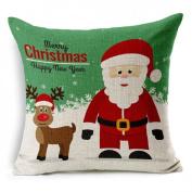 Malloom® Christmas Santa Claus Pillow Case Cushion Cover