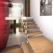 Kara Anti-Slip Strips Transparent Steps Approximately 60 cm x 3 cm instead of Stair Tread Step Covers