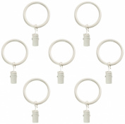 Montevilla 7-Pack Window Treatment Clip Rings, 1.6cm , Distressed White