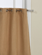Lorraine Home Fashions Sonoma 12-Grommet Tier Curtain, 130cm by 60cm , Gold