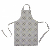 Ochre and Ocre Organic Cotton Children's Apron Garden Ochre Grey Wipeable