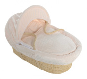 Luxury British Made Soft Cream Marshmallow Bassinet Moses Basket Replacement Cover