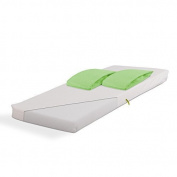 Baby Foam Mattress 40cm x 90cm + 2 White Terry Fitted Sheets 40cm x 90cm Green