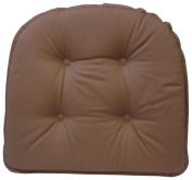 Klear Vu Gripper 100Percent Cotton Twill Chairpad, Brownstone