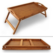BAMBOO WOODEN BREAKFAST DINNER SERVING TRAY WITH FOLDING LEGS NEW!!