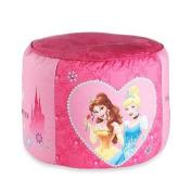 """Disney Princess """"Tiara Jewels"""" Printed Pouffe Ottoman"""