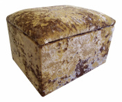 Small crushed Velvet Gilded-gold Storage Box/Pouffe / Footstool