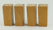 4x REPLACEMENT FURNITURE LEGS SOLID WOOD OAK FEET - 110mm HEIGHT - SOFAS, CHAIRS, SETTEE, CABINETS - SELF FIXING