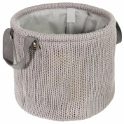 LOMOS® Decorative basket in knit-optic with two handles