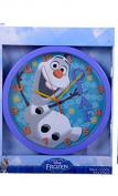 Official Disney Frozen Olaf and Sven Wall Clock Purple and Blue