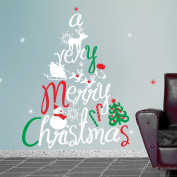 Christmas Tree Christmas Wall Decorations Wallpaper Wall Sticker Removable Decal Home Decor