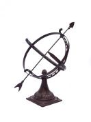 "Vintage sundial - decorative garden ornament - cast iron 20.5"""