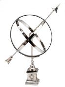 """Sundial - decorative in antique style - nickel-plated aluminium- 23"""""""