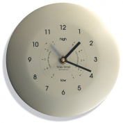 Powder Coated Stainless Steel Time & Tide Wall Clock - Classic Cream