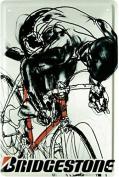 Bike Racing Bicycle Biker Bridgestone Advert 20 x 30 CM Metal Sign - 946