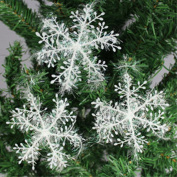 Zogin Winter White Snowflake Ornaments Christmas Festival Party Decoration - Set of 30
