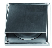 Stainless Steel Exhaust Hood with Backdraft Damper, DIN ø150, Ventilation Grilles, Exhaust Grille