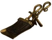 Antique Brass Hearth Set - Fireplace Companion Set - Brush & Shovel