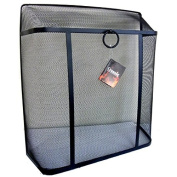 Crannog Heavy Duty Large Square Top Black Safety Fire Spark Guard Fireplace Cover Mesh Metal Screen Protection