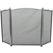 Home Discount® Denton 3 Panel Fire Screen Spark Guard, Pewter