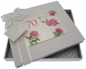"White Cotton Cards ""70th Birthday - English Roses"" Guest Book"