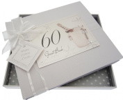 White Cotton Cards 60th Birthday Champagne and Bucket Guest Book