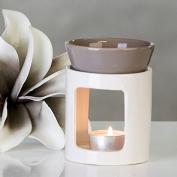 Aromabrenner DUO Ceramic Oil Burner-White / Grey, height