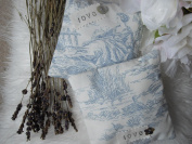 LAVENDER PILLOWS / SACHETS x 2 Chic Blue Toile Fabrics BEAUTIFULLY SCENTED