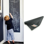 Youpin Self-adhesive Removable Blackboard,200CM x 45CM Wall Sticker Paper Vinyl Chalkboard Wall Sticker Decal Schoolhouse with Chalk
