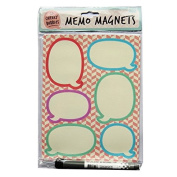 Magnetic Notice Memo Board with Peel Off Memo Magnets - Cheeky Bubbles - Size 215mm x 165mm