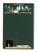 Padblocks A4 Black Chalk Board - Black and White Chickens