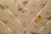 Large 60x40cm Landscape Fryetts Papillion Harvest Butterfly Hand Crafted Fabric Notice / Pin / Memo / Memory Board