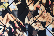 Large 60x40cm Alexander Henry Boudoir Black Sexy Lingerie Hand Crafted Fabric Notice / Pin / Memo / Memory Board