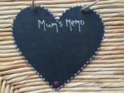 Little Miss Scrabbled - Personalised Hanging Chalk Board - WOODEN HEART - MUMS MEMO BOARD - Mums Kitchen