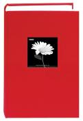 Pioneer DA300CBF-APR Fabric Frame Photo Album, Holds 300 4X6 Prints (Apple Red)