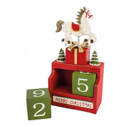 Coutndown to Christmas Wooden Rocking Horse Figure / Advent