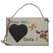 Wooden Sleeps 'til Santa / Countdown to Christmas Sign